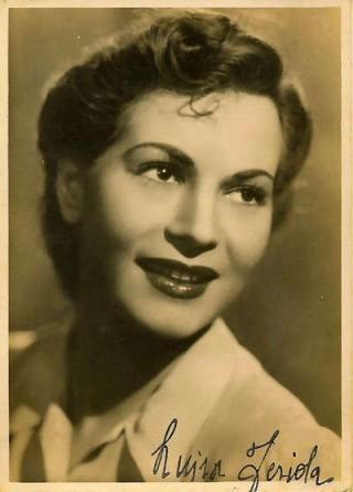 Luisa Ferida in una cartolina autografata
