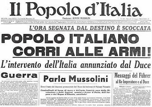 Il discorso di Mussolini a Piazza Venezia - 10 giugno 1940